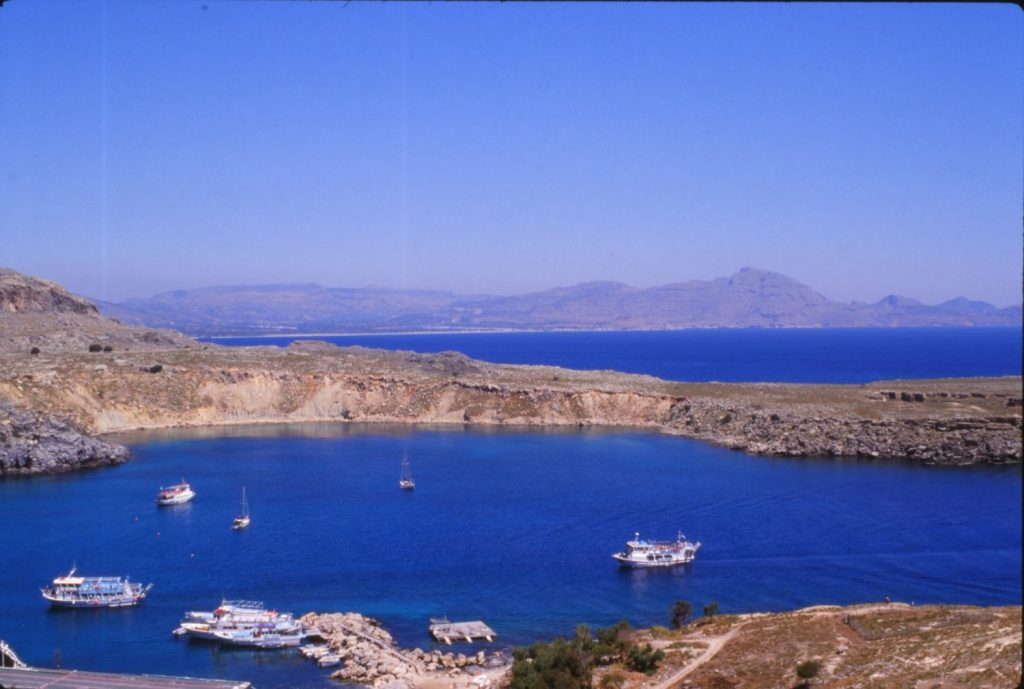 view from temple of Athena