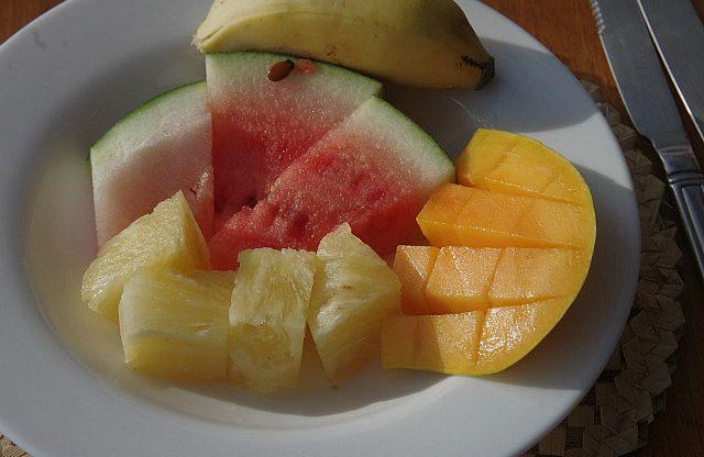 fresh fruit every morning