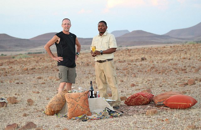 sundowners with Bons, our guide