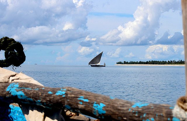 dhow in the distance