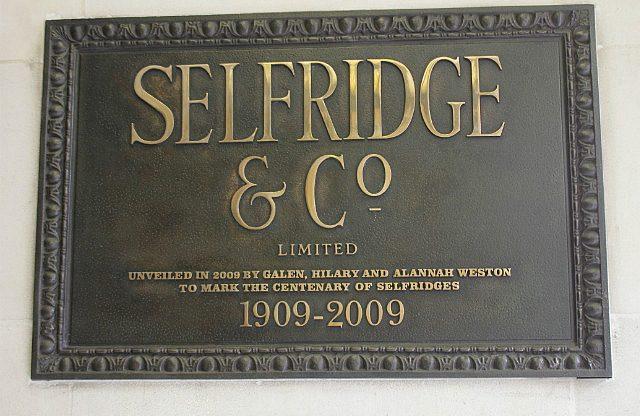do the Westons own Selfridges we wonder?