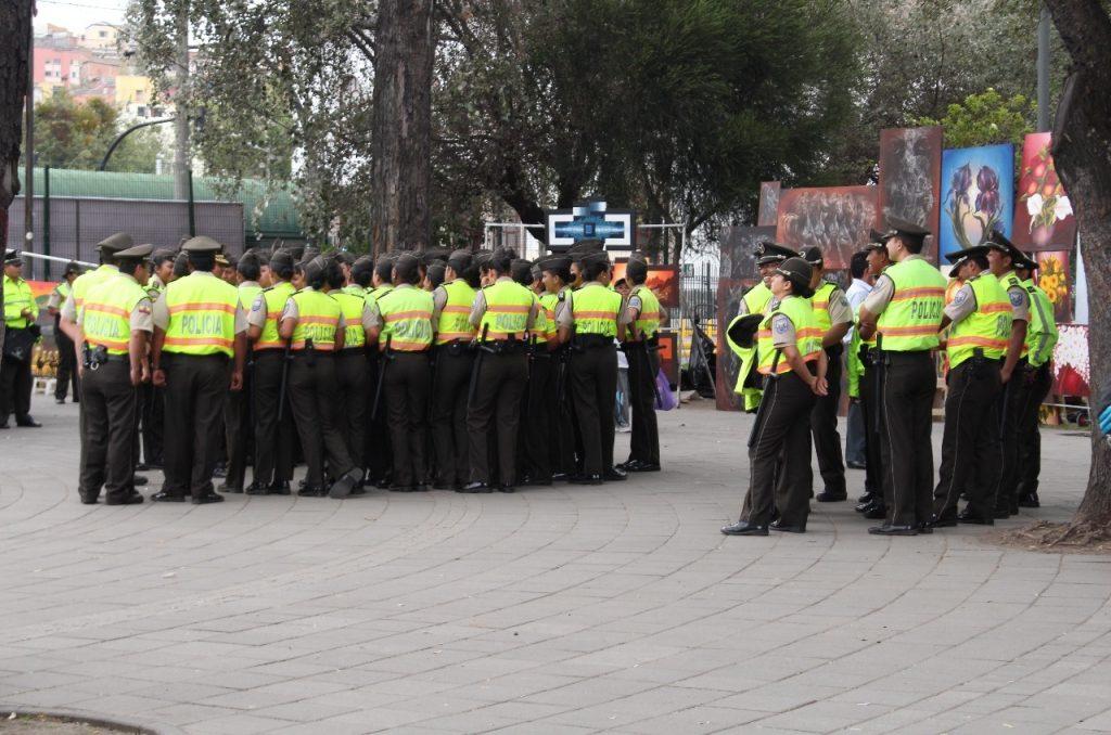 a huge police presence