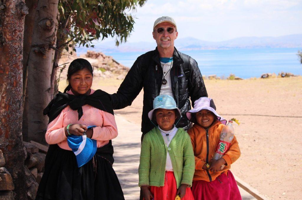 friendly Taquile Island kids