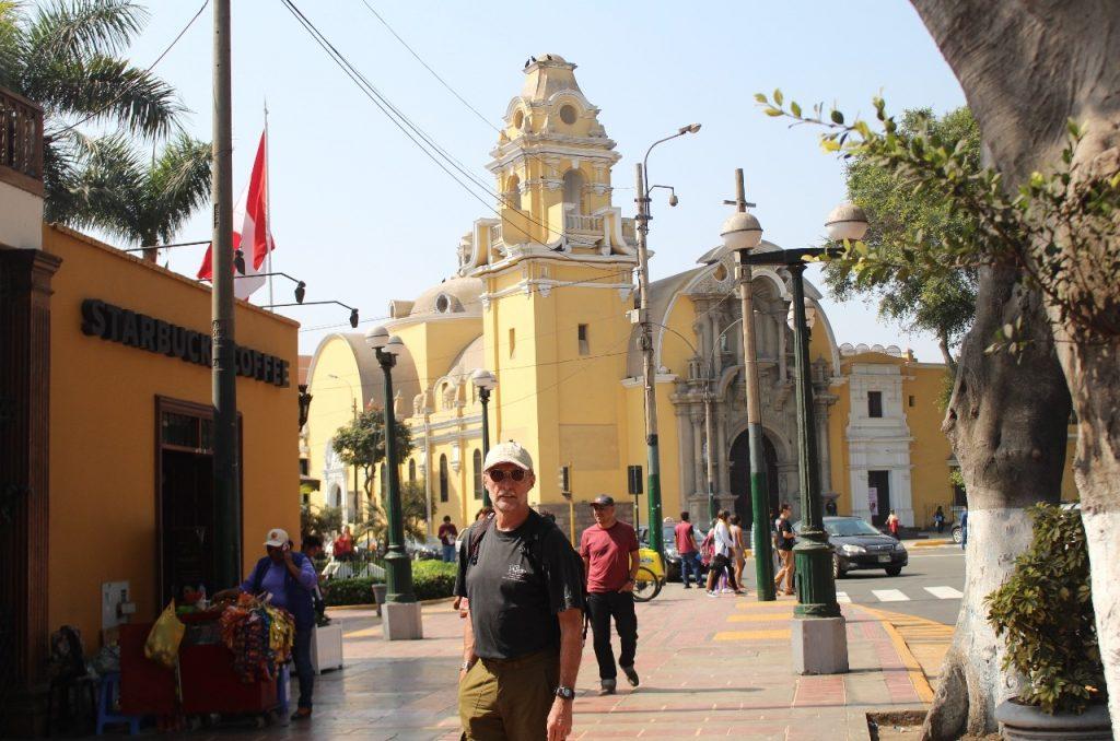 Craig photobombs Barranco cathedral