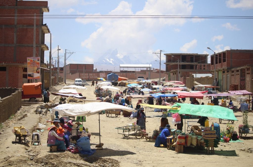 local market in one of many dusty pueblos