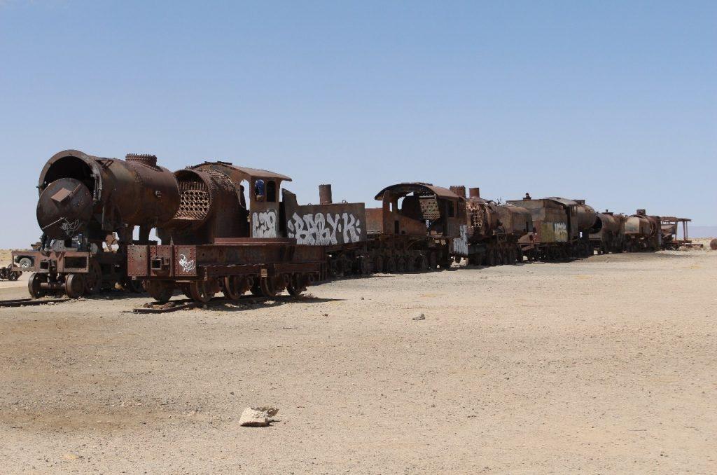 a rail-car grave yard