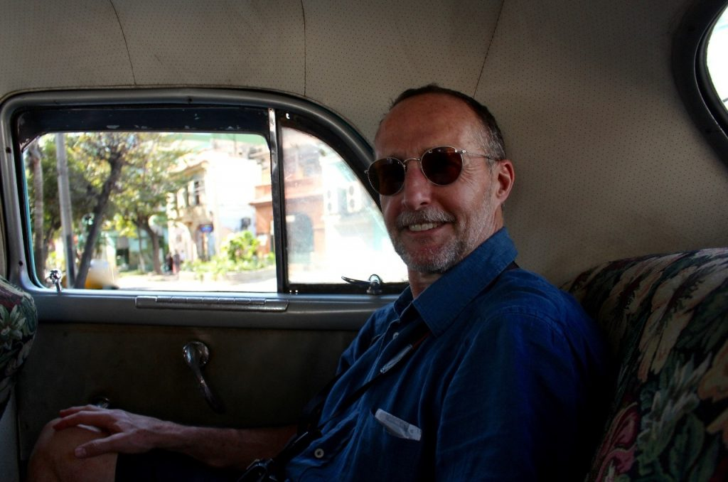 in an old Chevy