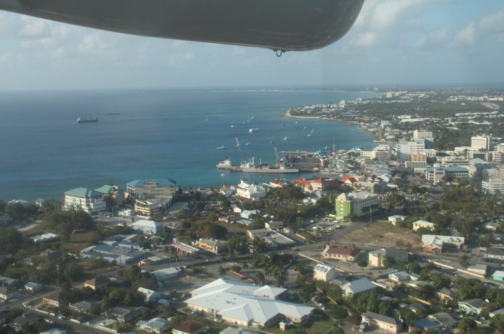 arriving Grand Cayman