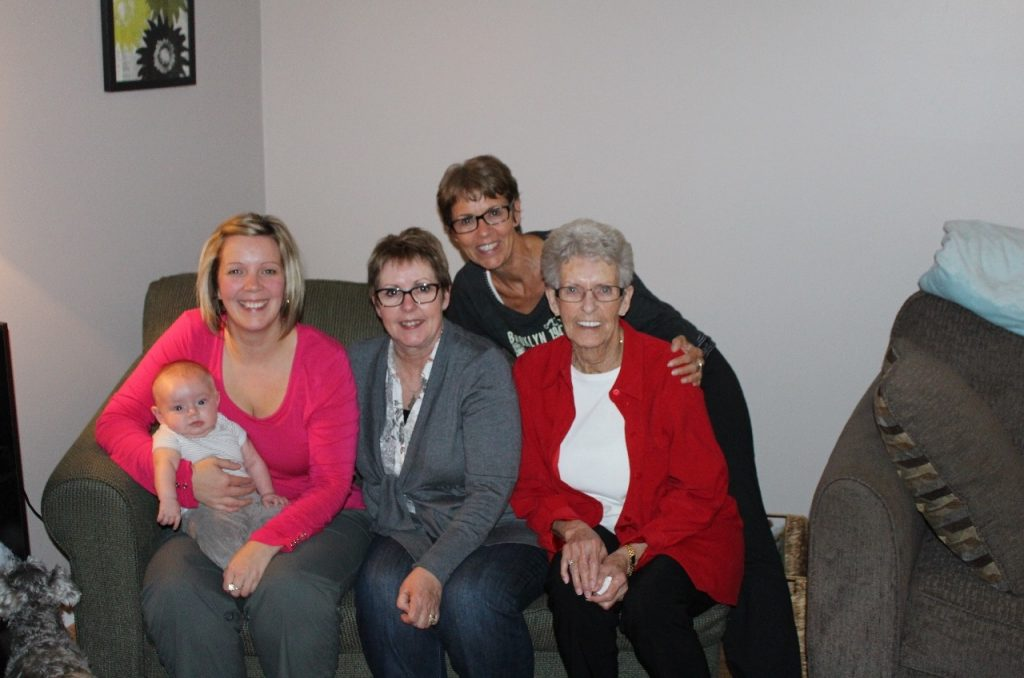 four generations gather