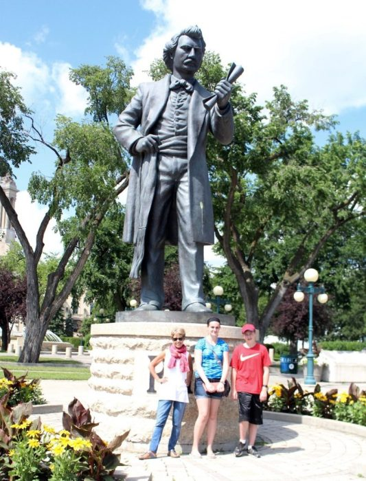one of many Louis Riel statues