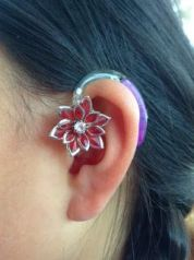 Flower on hearing aid
