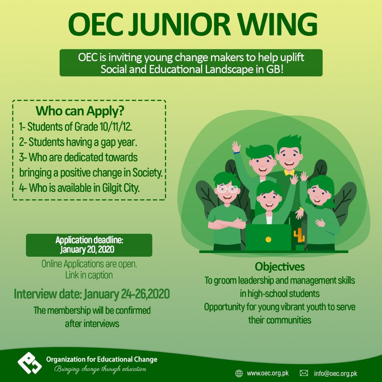 OEC Inductions 2020 - Junior Wing