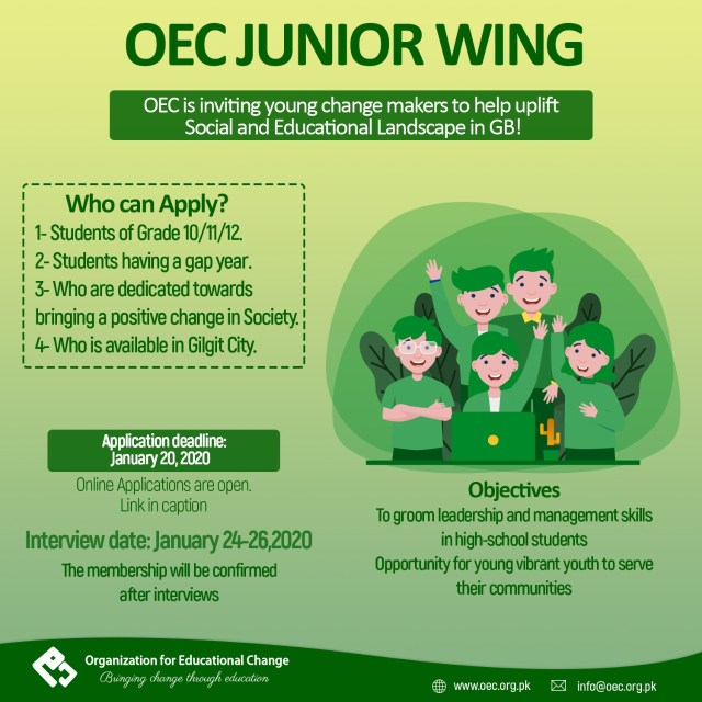 OEC Inductions 2020 - Junior Wing