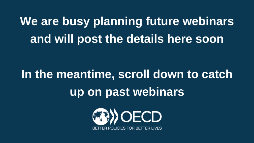 We are busy planning future webinars and will post the details here soon. In the meantime, scroll down to catch up on past webinars.