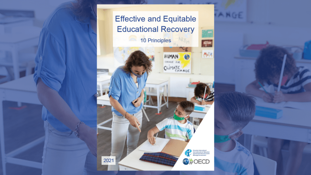 Cover of OECD-Education International report: Ten principles for equitable and effective educational recovery from COVID