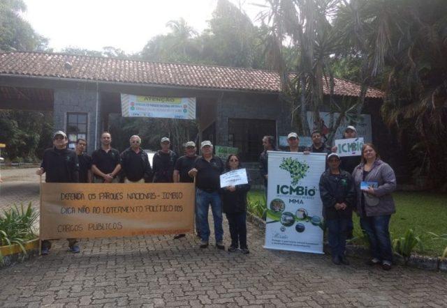 Também houve manifestação no Parque Nacional de Itatiaia, o mais antigo do país, criado em 1937. Foto: Divulgação