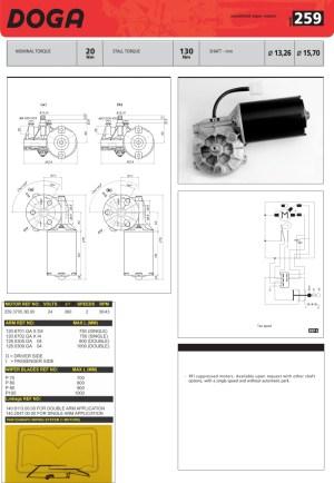 Doga Wiper Motors | OE Coach Supplies