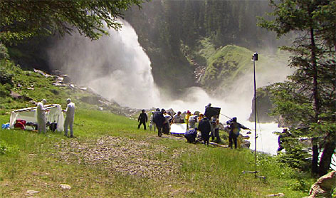 Krimmler Wasserfälle Dreharbeiten Landkrimi Drachenjungfrau