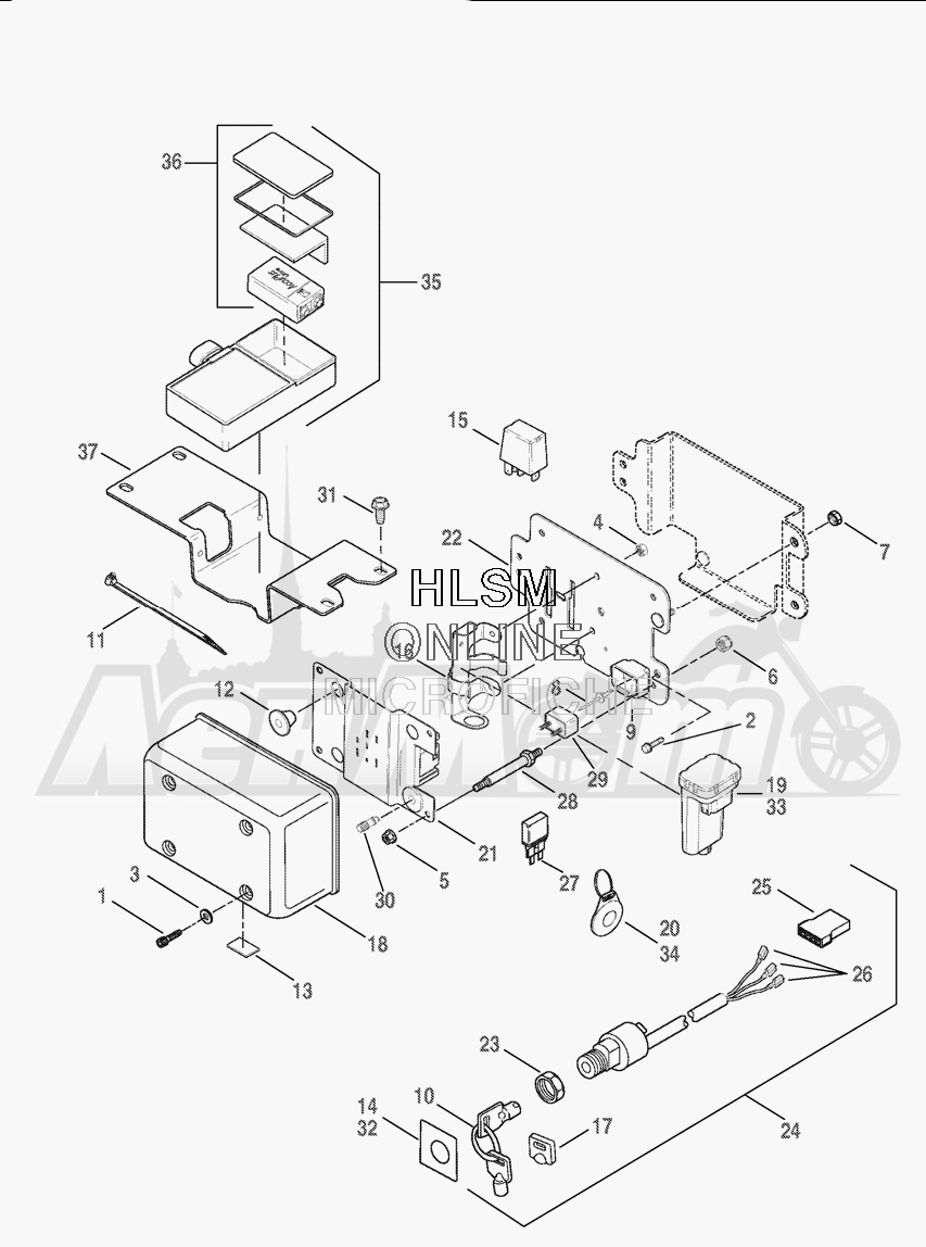 Electrical wiring harness assembly