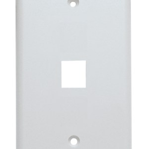 Keystone Wall Plate, Single Gang, 1 Port, White