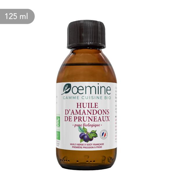 Pure huile vierge biologique d'amandons de pruneaux d'Agen.