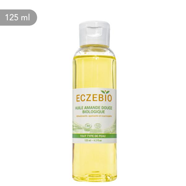 Huile d'amande douce Eczebio pour nourrir et apaiser les peaux sensibles et