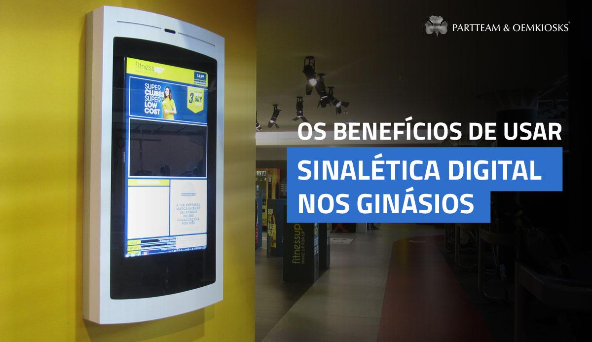 Os benefícios de usar sinalética digital nos ginásios