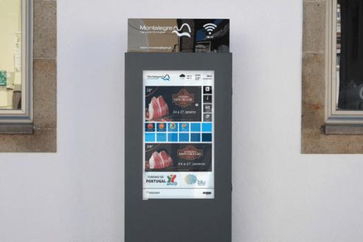 Mupi digital para Câmara Municipal de Montalegre