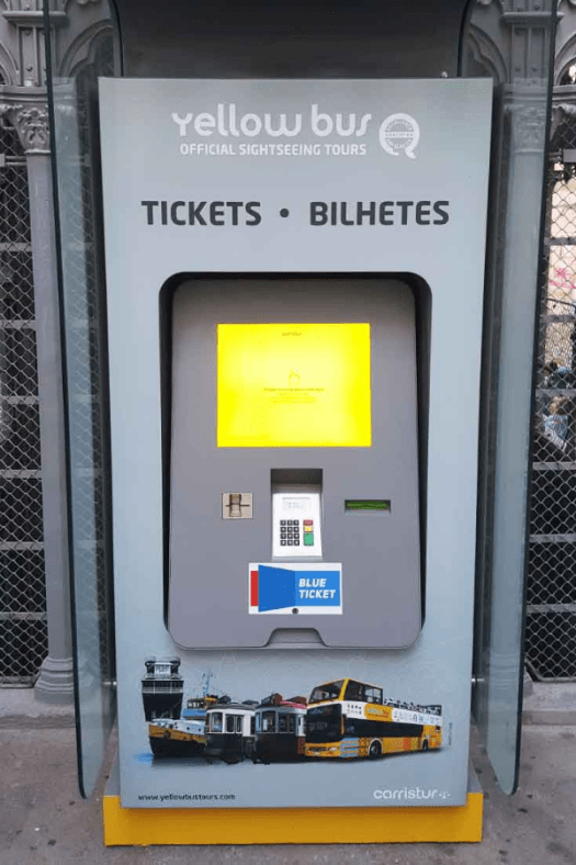 Quiosque Self-Service: Venda de Bilhetes para Yellow Bus - Turismo