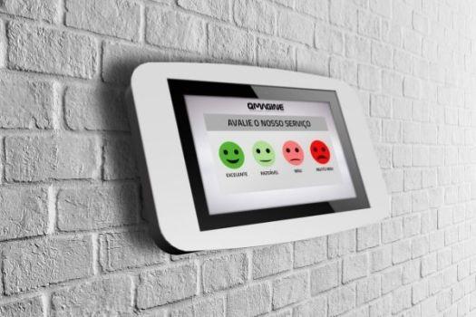 Com o Sistema de Avaliação em tablet, os clientes conseguem avaliar o serviço prestado a qualquer hora e em qualquer lugar