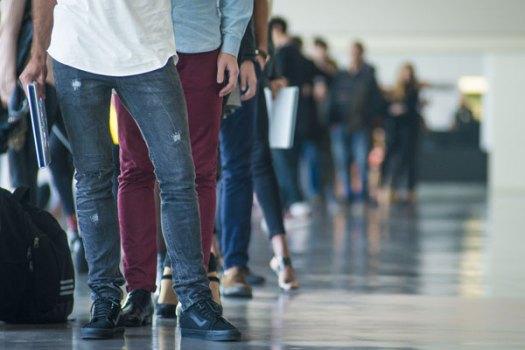 O self-checkout permite que os clientes evitem longas filas de espera