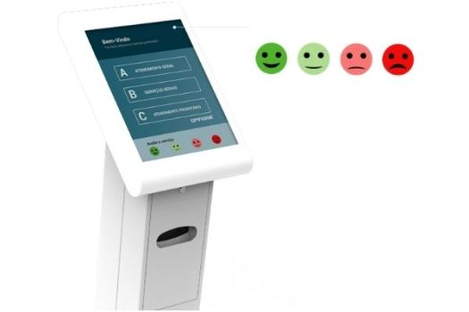 QMAGINE EVALUATION System can be integrated into a multimedia kiosk