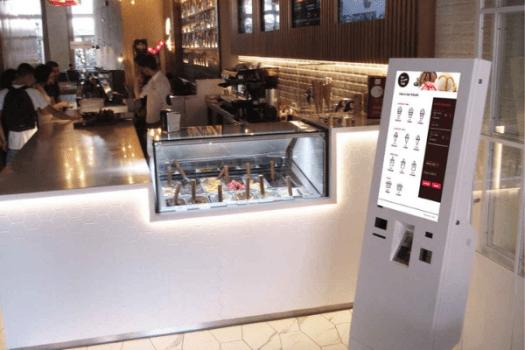 Quiosque digital para pagamento automático