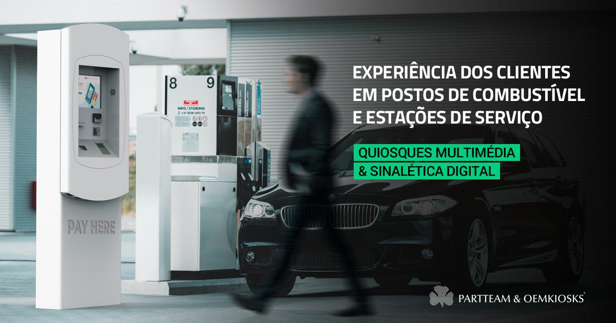 Quiosques multimédia e Sinalética Digital em postos de combustível e estações de serviço elevam experiência dos clientes