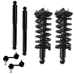 Detroit Axle - Front Strut & Coil Spring Assemblies, Rear Shocks & Front Front Bar Links for 2004-2015 Nissan Titan 2WD