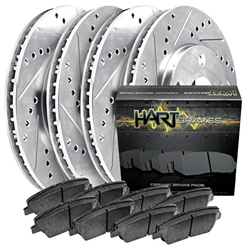 Fits 2009-2018 Nissan Maxima Front Rear Drill Slot Brake Rotors+Ceramic Pads