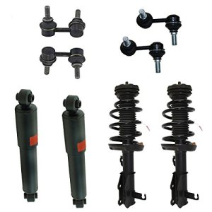 Detroit Axle - 8 Pc Complete Driver & Passenger Side Front Strut Assembly Set and (2) Rear Shock Absorbers & All (4) Sway Bar Links for 2005-2012 Nissan Pathfinder