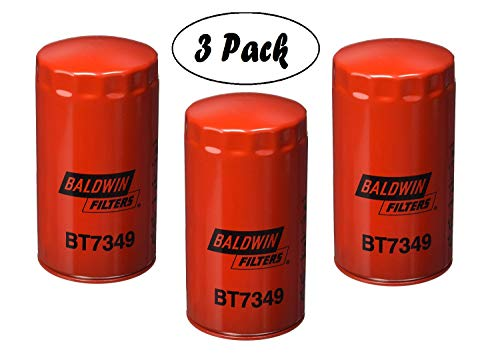 Baldwin BT7349 Heavy Duty Lube Spin-On Filter (Pack of 3)