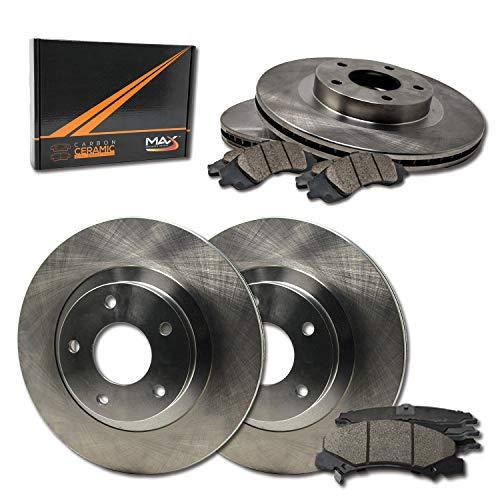 Max Brakes OE Series Rotors w/Ceramic Brake Pads Front + Rear Premium Brake Kit KT151343 [Fits:2009-2011 Audi A4 |2008-2011 A5]