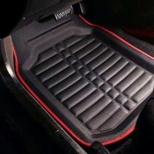 FH Group Tray Style Car Mats Deep Tray All Weather Floor Mats, 4 Piece