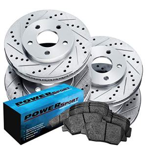 Fit 2004-2010 Toyota Sienna Front Rear Drill Slot Brake Rotors+Ceramic Pads