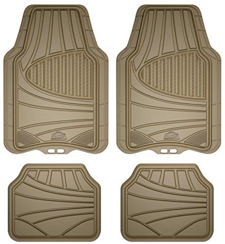 Custom Accessories Armor All 78842 4-Piece Tan All Season Rubber Floor Mat