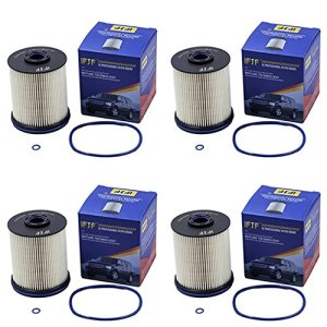 iFJF TP1015 Fuel Filter 5 Micron Filters with Seals for 2017 Chevy/GMC 6.6 Liter Duramax Diesel (Set of 4)