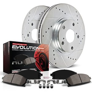Evolution Brake Kit with Drilled/Slotted Rotors and Ceramic Brake Pads