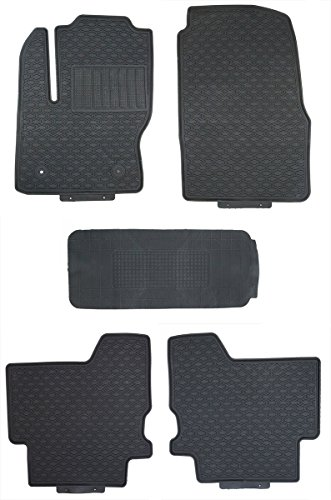 TMB Motorsports Black Rubber All Weather Floor Mats for 2013 Up Ford Escape