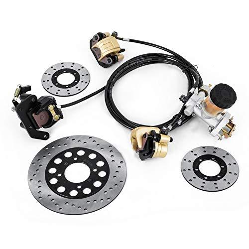 Mophorn GO-KART Brake Master Cylinder Kit KD150BRKIT Go Kart Hydraulic Brake Kit Universal Go Karts Brake Kit Kandi Complete Including Master Cylinder, Hose, Caliper, Pad