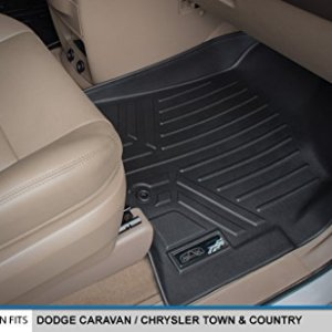 SMARTLINER Floor Mats 3 Row Liner Set Black