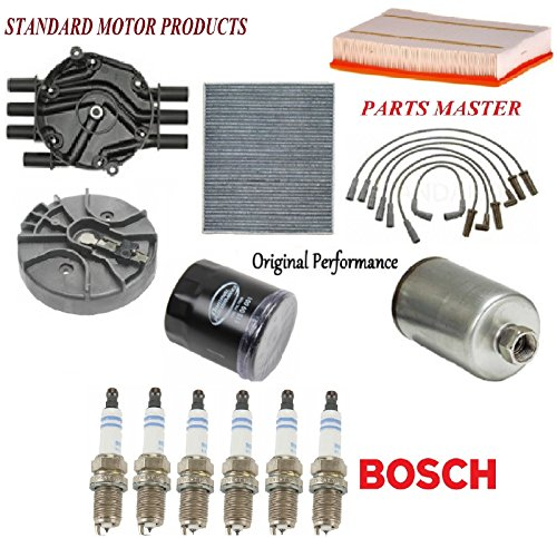 Tune Up Kit Air Cabin Oil Fuel Filters Cap Rotor Wire Spark Plug for CHEVROLET