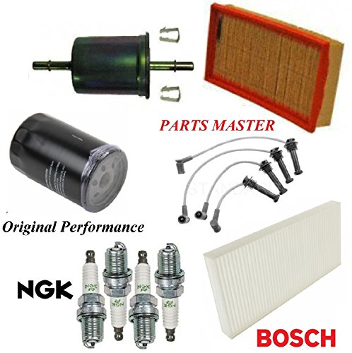 8USAUTO Tune Up Kit Air Cabin Oil Fuel Filters Wire Spark Plug