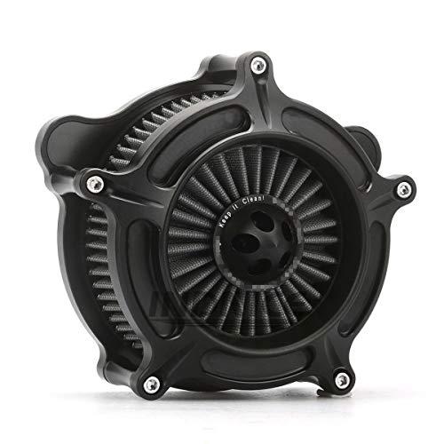 CNC Deep cut Black spike Air Cleaner Kit harley road king air filter electra glide
